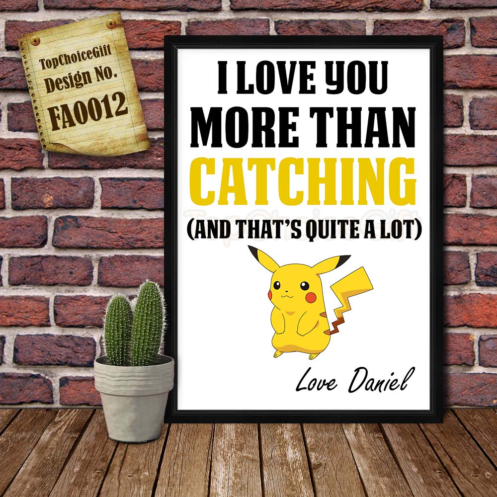 Pokemon Card Frame Fathers Day Personalised gift for him